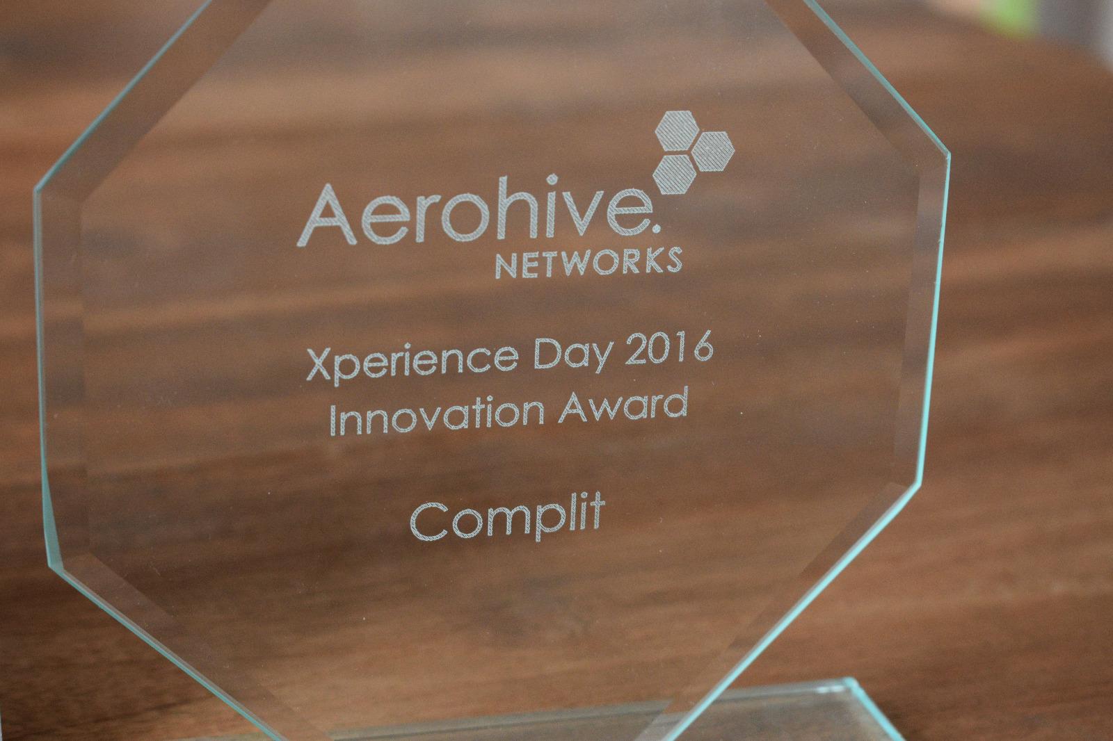 Complit Networks sleept voor derde jaar op rij award binnen en ontvangt dit jaar de Award Voor Meest Innovatieve Bedrijf in de Benelux